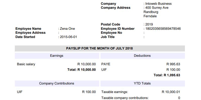 Payroll System - Websites SEO   Intoweb